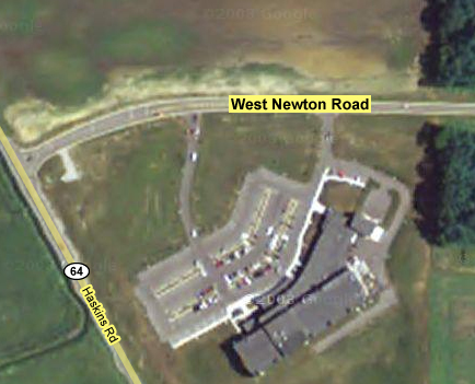 Map of West Newton and Haskins Road Intersection